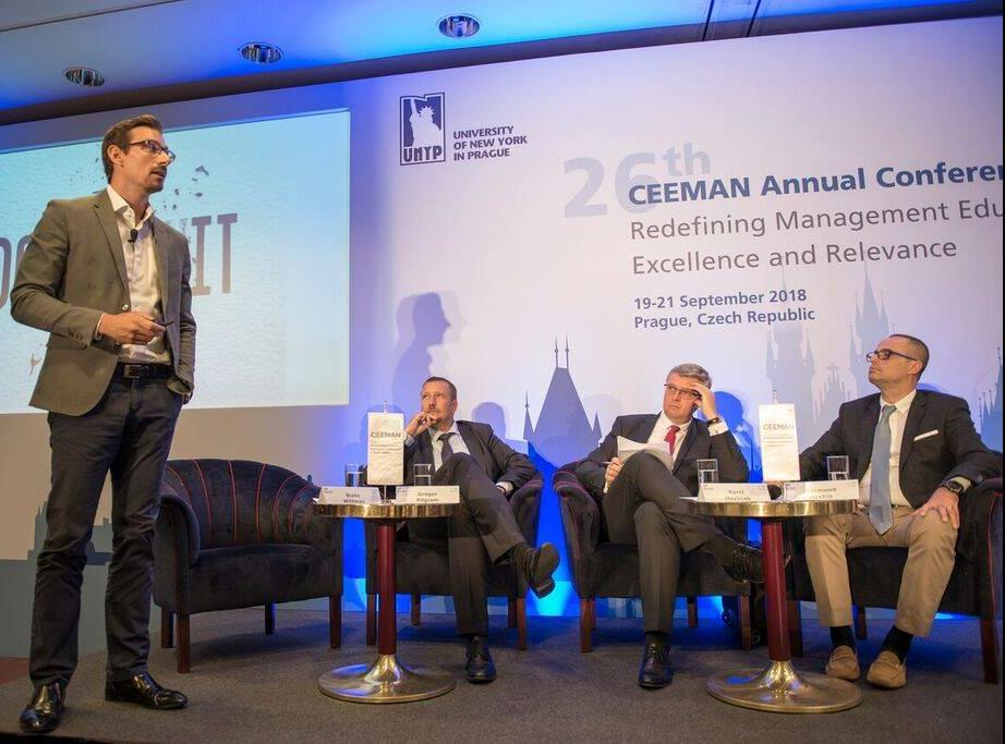 Business panel at CEEMAN Conference